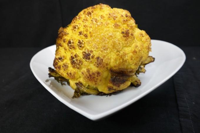 Healthy baked Cauliflower  with sea salt~