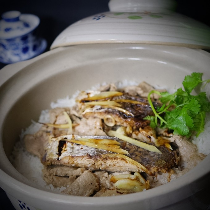 Rice Casserole with Pork Loin and Salted Fish~