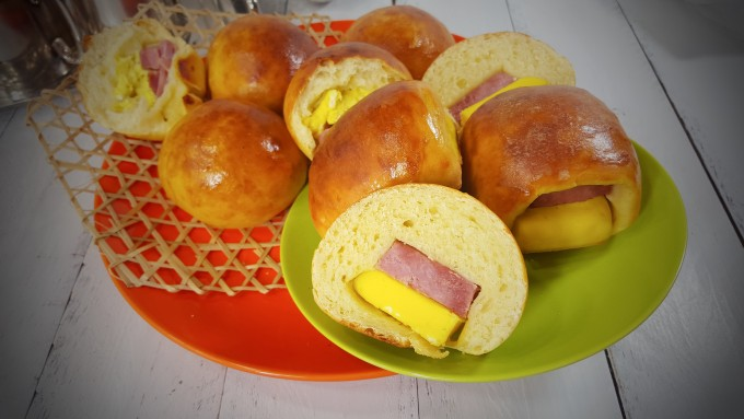 Ham and Egg Bun~HK style with old time favor