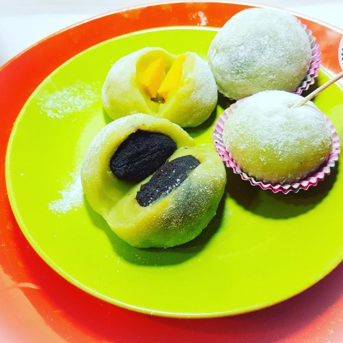 班蘭椰奶糯米糍~芒果、荳沙、1欵兩吃…