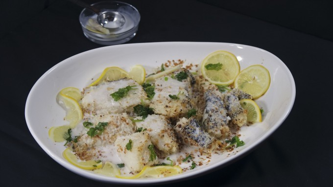 Best ever coconut baked sea bass
