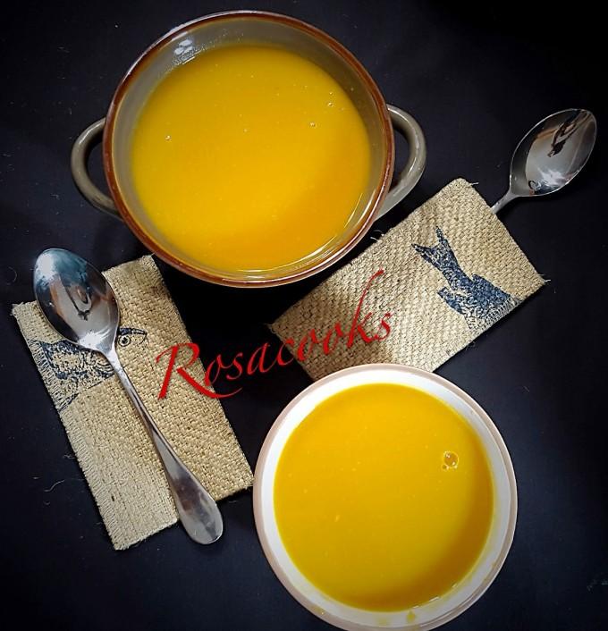 Savory Simple Pumpkin Soup with Onion