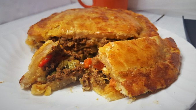 Curry beef Pie with homemade pie crust