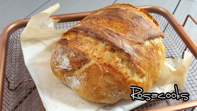 No-Knead bread~easy recipe with  only time concern@Rosacooks